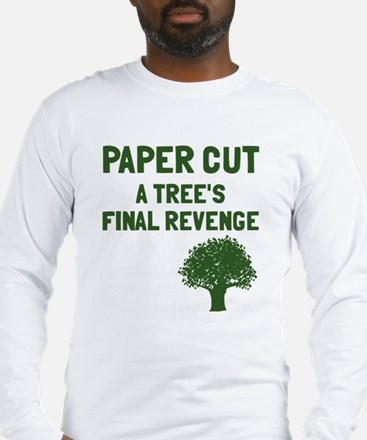 Paper cut tree's revenge Long Sleeve T-Shirt