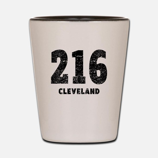 216 Cleveland Distressed Shot Glass