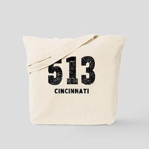 513 Cincinnati Distressed Tote Bag