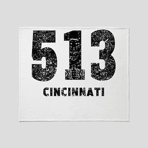 513 Cincinnati Distressed Throw Blanket