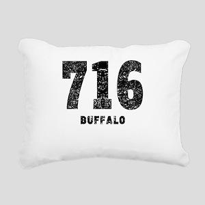 716 Buffalo Distressed Rectangular Canvas Pillow