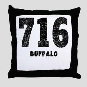 716 Buffalo Distressed Throw Pillow