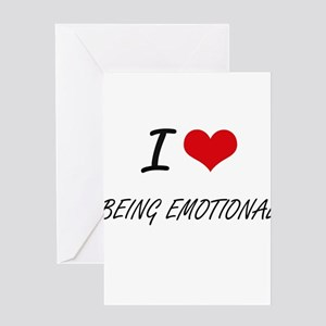 Feeling disturbed greeting cards cafepress i love being emotional artistic des greeting cards m4hsunfo