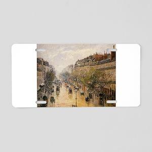 Camille Pissarro - Boulevar Aluminum License Plate