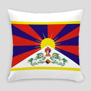 Tibetan Free Tibet Flag - Peu Rang Everyday Pillow