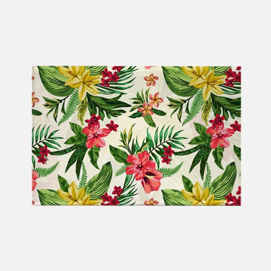 Colorful Exotic Flowers Magnets