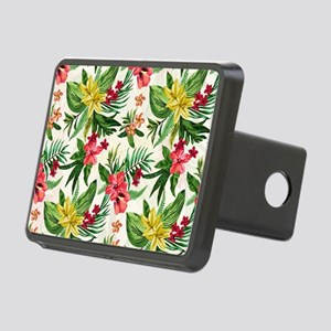 Colorful Exotic Flowers Rectangular Hitch Cover