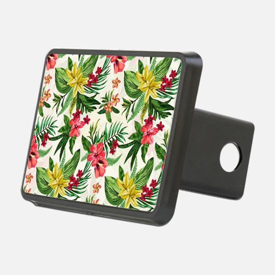 Colorful Exotic Flowers Hitch Cover