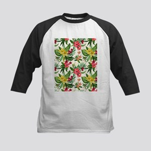 Colorful Exotic Flowers Baseball Jersey