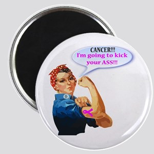 Rosie Fighting Cancer Design Magnets