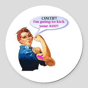 Rosie Fighting Cancer Design Round Car Magnet