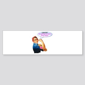 Rosie Fighting Cancer Design Bumper Sticker