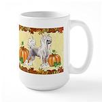 Chinese Crested Autumn Mug Mugs