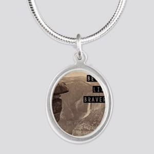 Be Brave Silver Oval Necklace