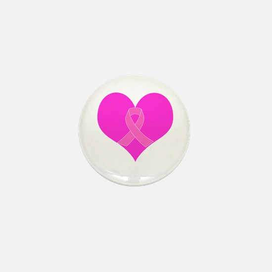 Ribbon Heart Charity Design Mini Button