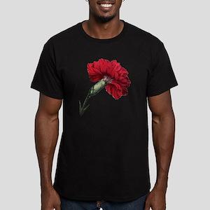 Vintage Carnation Flow Men's Fitted T-Shirt (dark)