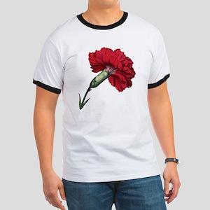 Vintage Carnation Flower Ringer T