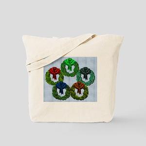 Harvest Moons Christmas Wreaths Tote Bag