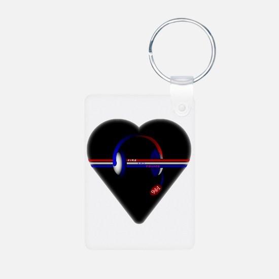 911 Dispatcher (Heart) Keychains