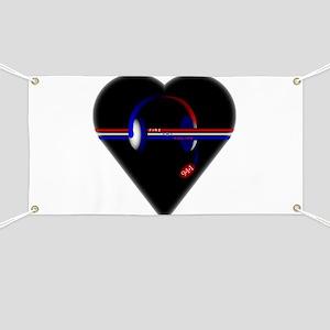 911 Dispatcher (Heart) Banner