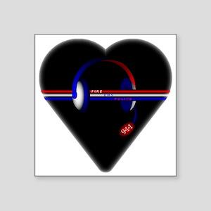 911 Dispatcher (Heart) Sticker