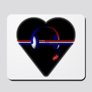 911 Dispatcher (Heart) Mousepad