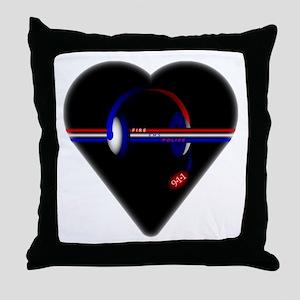 911 Dispatcher (Heart) Throw Pillow