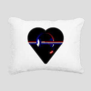 911 Dispatcher (Heart) Rectangular Canvas Pillow