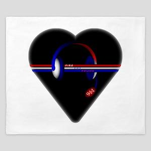 911 Dispatcher (Heart) King Duvet