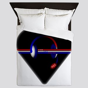 911 Dispatcher (Heart) Queen Duvet