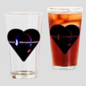 911 Dispatcher (Heart) Drinking Glass