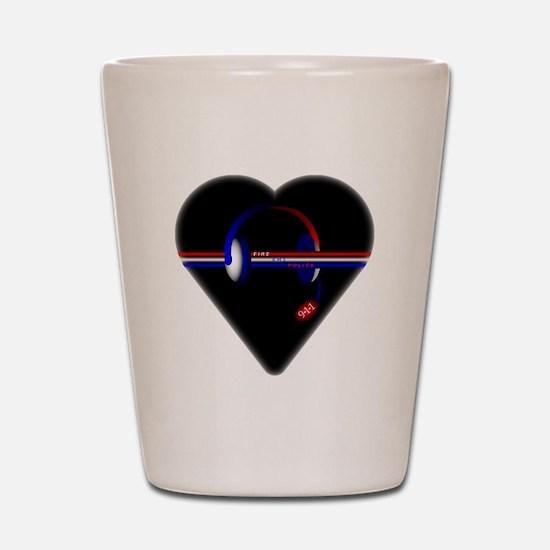 911 Dispatcher (Heart) Shot Glass