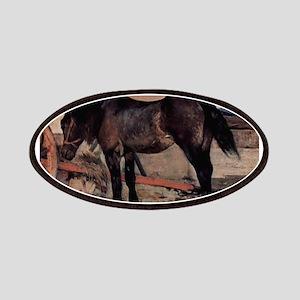 Giovanni Fattori - Pferd vor einem Wagen Patch
