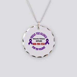 Break the Silence of Domesti Necklace Circle Charm