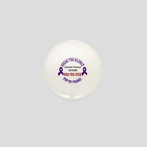 Break the Silence of Domestic Violence Mini Button