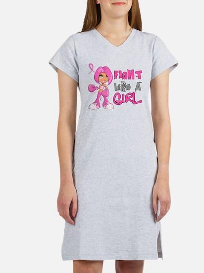Cute Cancer ribbon Women's Nightshirt
