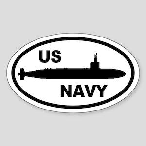 NAVY Submarine Oval Sticker