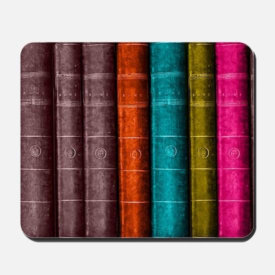 VINTAGE BOOKS one shelf Mousepad