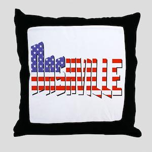 Patriotic Nashville Throw Pillow