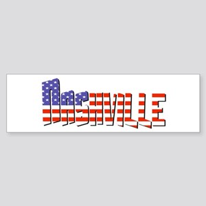 Patriotic Nashville Bumper Sticker