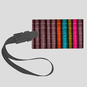 VINTAGE BOOKS one shelf Large Luggage Tag