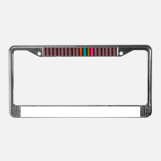 VINTAGE BOOKS one shelf License Plate Frame