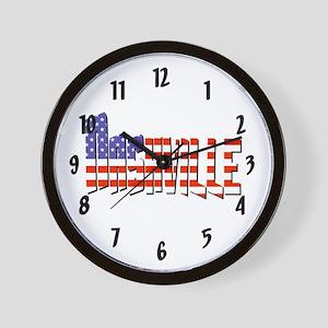 Patriotic Nashville Wall Clock