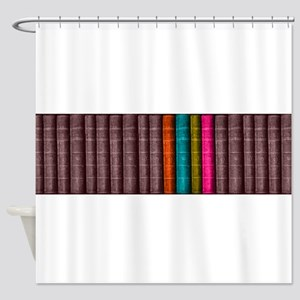 VINTAGE BOOKS one shelf Shower Curtain