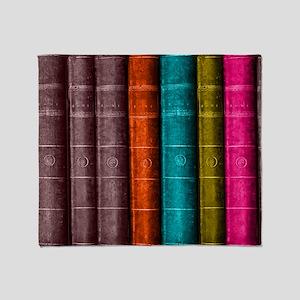 VINTAGE BOOKS one shelf Throw Blanket