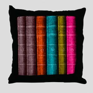 VINTAGE BOOKS one shelf Throw Pillow