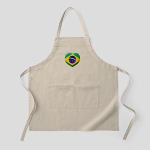 Brazilian Flag in 3D Heart Apron