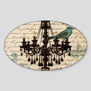 girly chandelier vintage pa Sticker
