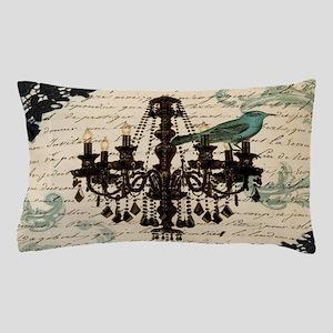 girly chandelier vintage paris Pillow Case
