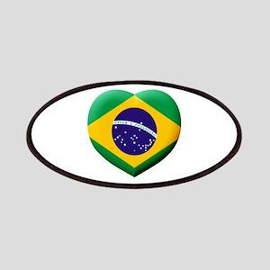 Brazilian Flag in 3D Heart Patch